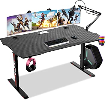 Himimi Racing Style Home Office Table Gamer Desk Workstation
