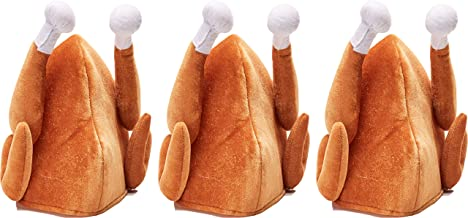 Forum Novelties 3 Turkey Hats Funny Thanksgiving Outfit Adult Halloween Costume Accessory Gift