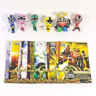 Power Rangers Samurai - 6 Figure & 18 Complete Card Collection Set