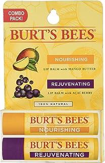 Burt's Bees Lip Balm Twin Pack Mango Butter Acai Berry - 0.3 oz
