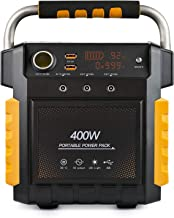 ExpertPower S400 Lithium Portable Power Station,386Wh Solar Generator with 400W AC Inverter (800W Peak), USB, 12V DC Output, 110V AC Outlet and LED Flashlight for Emergency, Camping and Power Supply
