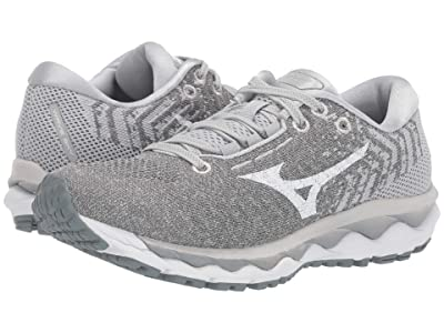 Mizuno Wave Sky Waveknit 3 (Glacier Gray/White) Women