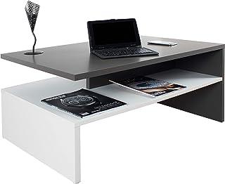 RICOO WM080 W-A Mesa Centro salón 90x415x595cm Mueble Auxiliar para Salon Rectangular Diseño Moderno Decorativo M...