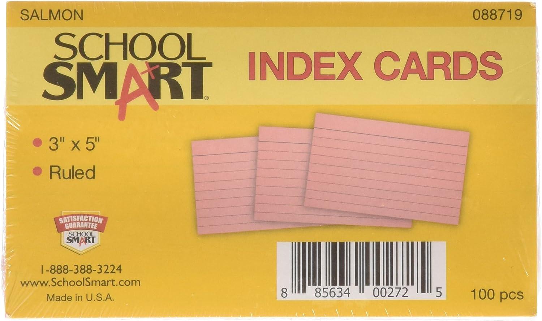 Schule smart Schwergewicht liniert Index Karten – 7,6 7,6 7,6 x 12,7 cm – Pack von 100 – lachs B003U6KW4U | Kaufen  e1ca3b