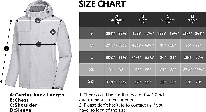 Little Donkey Andy Mens Waterproof Ski Snowboarding Jacket Windproof Warm Coat with Detachable Hood