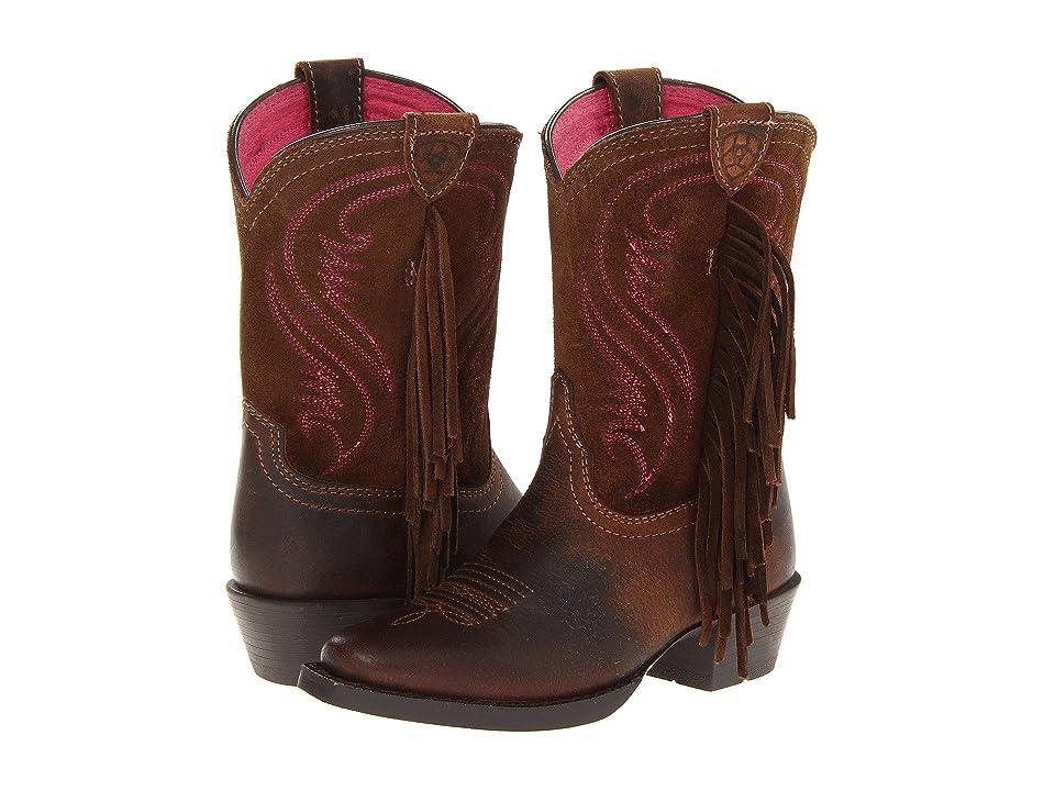 Ariat Kids Fancy Distressed (Toddler/Little Kid/Big Kid) (Brown/Chocolate) Cowboy Boots