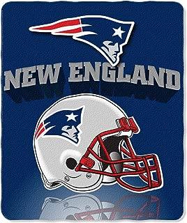 The Northwest Company NFL New England Patriots Gridiron Fleece Throw, 50 x 60-inches