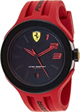 Ferrari Men's 830220 FXX Logo-Accented Watch with Red Band