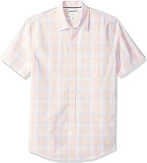 Amazon Essentials Camisa de Rayas de Manga Corta Ajustada Hombre
