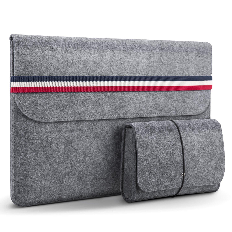 HOMIEE Funda para portátil de 15,4-15,6 Pulgadas con Estuche Adicional y Almohadilla para el ratón, maletín para Tableta de Fieltro Bolsa de Transporte con Bolsillos, para portátil de 15,6 Pulgadas: Amazon.es: Electrónica