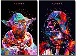 Two Packs,Star Wars Full Drill Diamond Painting 5D DIY Diamond Embroidery Cross Stitch Rhinestone Art Craft Classic Movie Pictures Mosaic Painting Home Wall Decoration (12X16IN/30X40CM),A