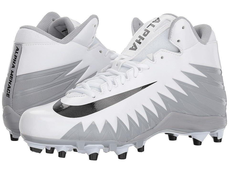 Nike Alpha Menace Varsity Mid (White/Black/Metallic Silver/Wolf Grey) Men