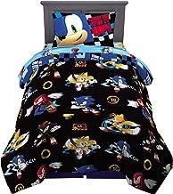 Franco Kids Bedding Super Soft Comforter and Sheet Set, 4 Piece Twin Size, Sonic The Hedgehog