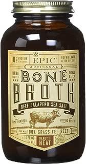 Epic Artisanal Sipping Bone Broth (Beef Jalapeno Sea Salt, 3-Pack)