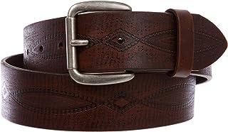 Women's or Men's Embossed Vintage Full Grain Leather Casual Jean Belt