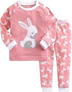 VAENAIT BABY 12M-12 Toddler Girls Boys Kids 100% Cotton Sung Fit Dinosaur Rabbit Pajamas Sleepwear Pjs