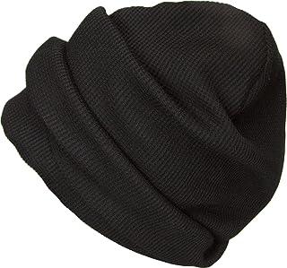 [ろしなんて工房] 帽子 ワッフルニットキャップ SP385 超ロング436 大きいサイズOK [日本製]