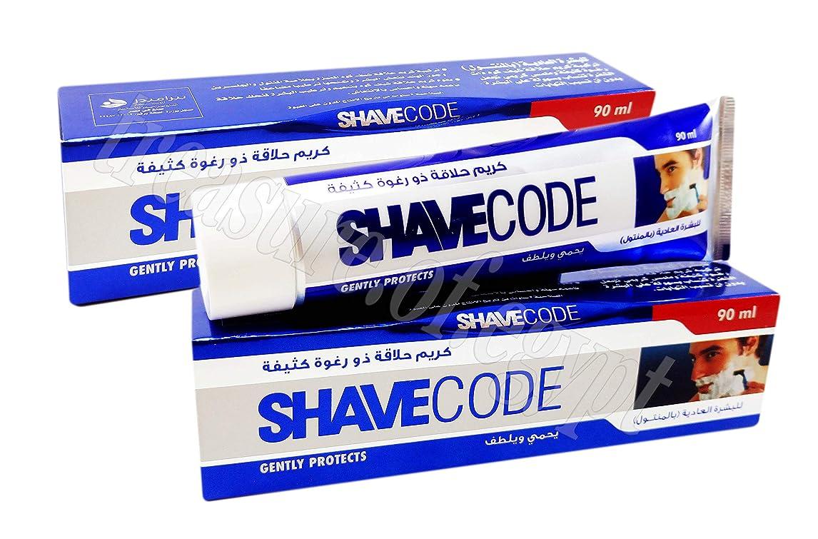 好色なダンプ転送SHAVECODE Shaving Cream Smoothing Lather Gentle Skin Shave with Aloe Vera and Mentol for Normal Skin (2 Packs / 180 gm)
