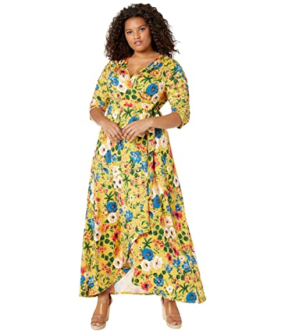 Kiyonna Meadow Dream Maxi Dress (Summer Bouquet) Women