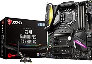 MSI Performance GAMING Intel 8th Gen LGA 1151 M.2 DVI HDMI USB 3.1 Gigabit LAN SLI CFX WiFi ATX Motherboard (Z370 GAMING PRO CARBON AC)