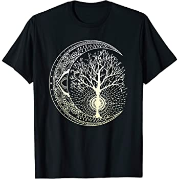 Design By Humans Mandala blue and white Boys Youth Graphic T Shirt
