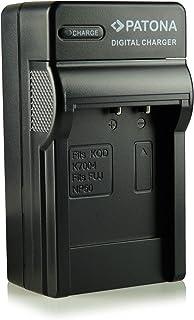 Patona - Cargador con 3 clavijas compatible con Fuji NP-50/Kodak Klic-7004/Pentax D-Li68/D-Li122 para cámara de fotos digital Fujifilm FinePix F70EXR/F80EXR/F200EXR etc.
