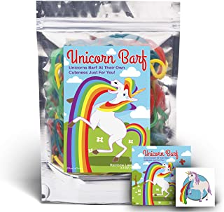 Unicorn Barf Rainbow Lace Licorice - Funny Unique Christmas Stocking Stuffer Gag Candy Gift for Teens, Girls, Boys and Kids