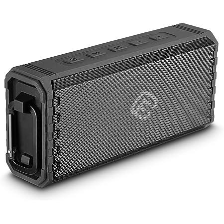 40s Bluetooth スピーカー 防水 高音質 重低音 SDカード 大音量 防塵 ポータブル ハンズフリー お風呂 ステレオ アウトドア 長時間 車 ブルートゥース TWS 【日本メーカー 1年保証】(ブラック)