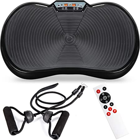 Best Choice Products Vibration Plate Exercise Machine Full Body Fitness Platform for Weight Loss & Toning w/Resistance Bands, 10 Preset Workouts, Remote Control
