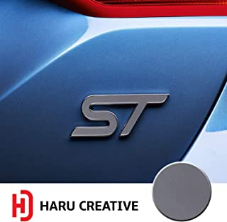Haru Creative - Front Grille Hood Rear Trunk Emblem Letter Insert Overlay Vinyl Decal Sticker Compatible with and Ford Focus ST 2013-2019 - Matte Gunmetal