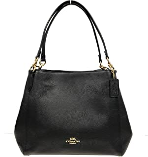 Coach Pebble Leather Hallie Shoulder Bag
