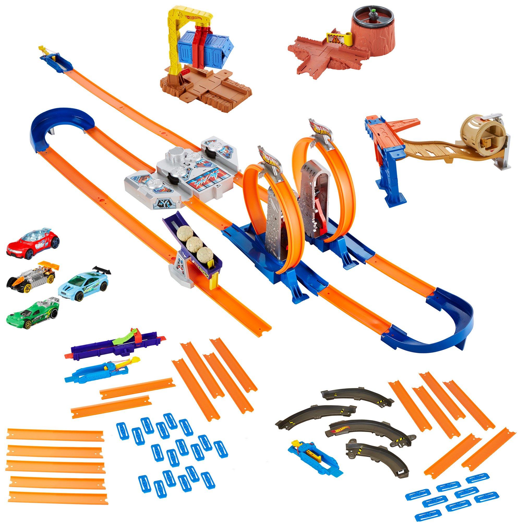 Hot Wheels Track Builder System Mega Set by: Amazon.es: Juguetes y ...
