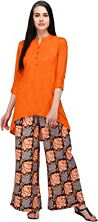 Pistaa's Women's Viscose Short Top High Low Salwar Suits set