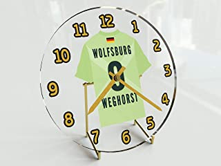 Bundesliga Fu&szligball-Uhr&nbspim Trikot-Design &ndash&nbsppersonalisierbar VFL Wolfsburg