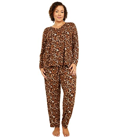 N by Natori Plus Size Wild Instinct PJ Set (Natural Combo) Women