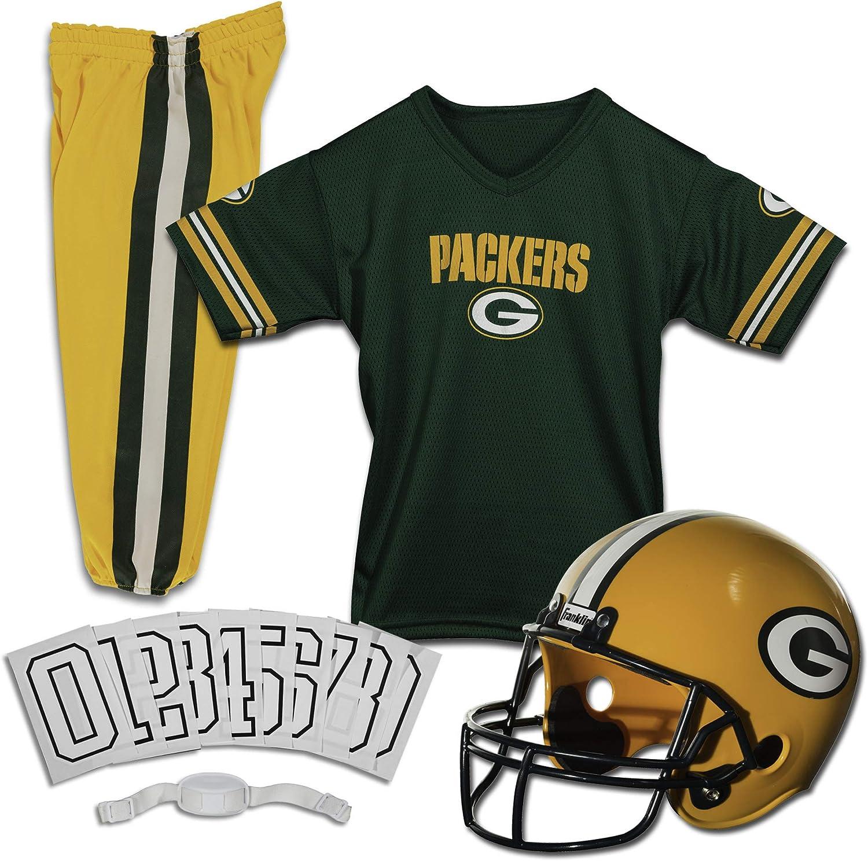 Franklin Sports Green Bay Packers Kids - NF Set Football Uniform Direct store Award-winning store