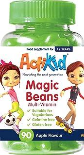 ActiKid Magic Beans Multivitamin 90x Apple Flavour. Gelatine Free. Vitamins for children. Fortalecimiento