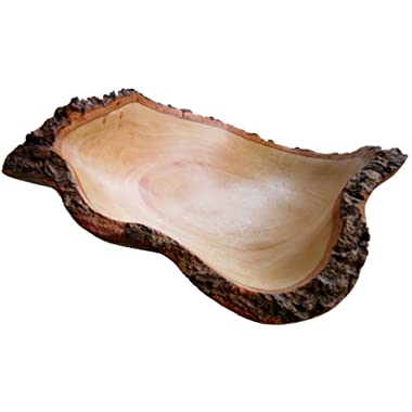 roro 10 In Mango Wood Fruit Bowl with Bark Edges Made from Sustainable Orchard Wood