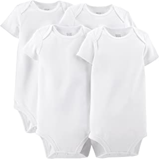 Carter's Just One You Unisex Baby 4 Pack Short-Sleeve Bodysuit - White