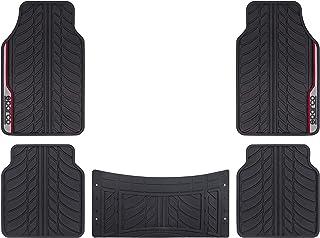 SPARCO PVC CAR MATS, BLACK/RED, 5PCS/SET