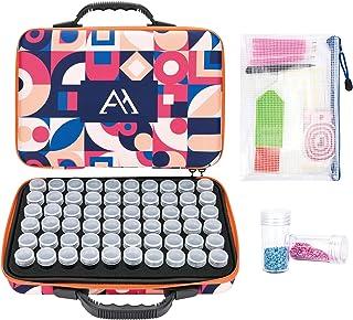 Admaiora 60 Slots Diamond Painting Storage Containers, Diamond Painting Kits with Tools, Diamond Painting Accessories for ...