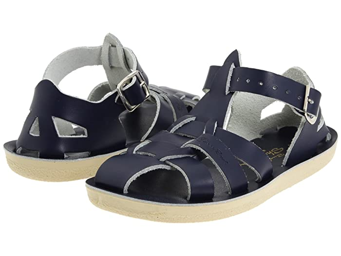 Salt Water Sandal by Hoy Shoes  Sun-San - Sharks (Toddler/Little Kid) (Navy) Kids Shoes