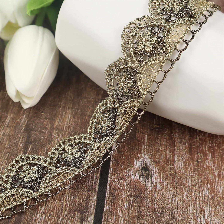 Dedication Gold low-pricing Trim Vintage Lace Sewing Ri Metallic Ribbon