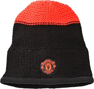 Adidas Manchester United FC Official Beanie Hat - Black/Solar Red -