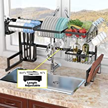 """Over The Sink Dish Drying Rack (32''≤ Sink Size ≤ 41"""") Adbiu Kitchen Dish Rack And Drainboard Set Stainless Steel Storage ..."""