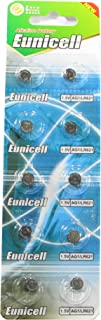 10 Eunicell AG1 / 164 / 364 / LR621 Button Cell Battery Long Shelf Life 0% Mercury (Expire Date Marked)