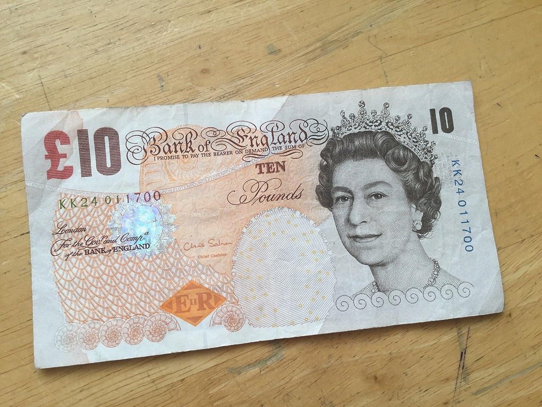 excelentes precios TGBCH One Single Paper Circulated £10 Note Serial Number Number Number KK24 01 1700  precio razonable