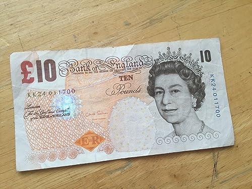 Mercancía de alta calidad y servicio conveniente y honesto. TGBCH One Single Paper Circulated £10 Note Serial Serial Serial Number KK24 01 1700  calidad fantástica
