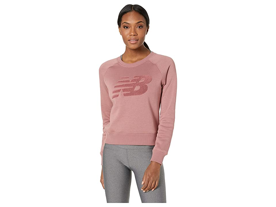 New Balance Chenille Brushed Crew Top (Dark Oxide) Women