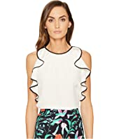 Kate Spade New York - Sleeveless Ruffle Silk Top